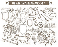 Vector heraldry emblem collection. Royalty Free Stock Photography