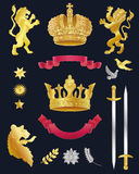Vector heraldry emblem collection. Stock Photos
