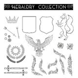 Vector heraldry emblem collection. Royalty Free Stock Images