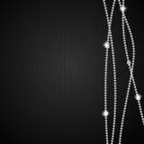 Vector hermoso abstracto del fondo del diamante negro Foto de archivo