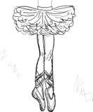 Vector hermoso de la bailarina Imagen de archivo