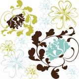 Vector hermoso de la flor Foto de archivo libre de regalías