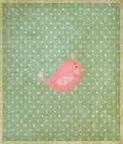 Vector hermoso de la tarjeta de felicitación del vintage del bebé Imagen de archivo