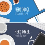 Vector hero images Royalty Free Stock Image