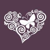 Vector Herzillustration, Gestaltungselement, Valentinsgrußtag, Spitze, Liebe, Tätowierung Stockfotos