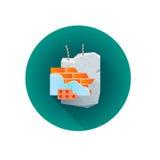 Vector het afvalpictogram van het de bouwpuin Royalty-vrije Stock Afbeelding