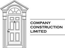 Vector het bedrijfembleem van het deurpictogram Stock Foto