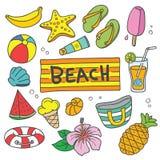 Vector het Beeldverhaalillustratie van de de zomervakantie Stock Foto's
