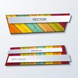 Vector het elementenontwerp van moderbanners Stock Foto