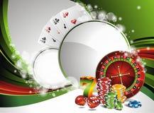 Vector het gokken illustratie met casinoelementen Royalty-vrije Stock Fotografie