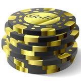Vector het gokken spaanders Royalty-vrije Stock Foto