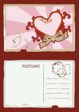 Vector het hartprentbriefkaar van Grunge Stock Foto