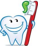 Vector het knipogen gelukkige het glimlachen tand Stock Foto