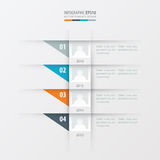 Vector het malplaatje gele, blauwe, roze kleur van het chronologieontwerp Stock Afbeeldingen