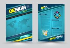 Vector het malplaatje moderne stijl van de ontwerppagina Stock Foto