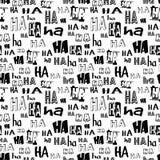 Vector Het naadloze patroon van Ha Ha Grappige achtergrond geschikt voor document of textieldruk, kaart of Webachtergrond Geen ac Royalty-vrije Stock Foto
