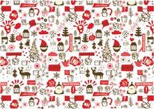 Vector - het naadloze patroon van Kerstmis Royalty-vrije Stock Foto