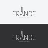 Vector het ontwerpconcept van alfabetfrankrijk met vlak tekenpictogram Royalty-vrije Stock Afbeeldingen