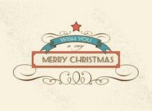 Vector het ontwerpelement van de Kerstmisdecoratie Royalty-vrije Stock Foto's