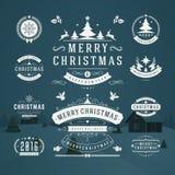 Vector het Ontwerpelementen van Kerstmisdecoratie Royalty-vrije Stock Foto's