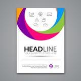 Vector het ontwerpmalplaatje van de Affichevlieger Abstracte kleurrijke cirkel bedrijfsachtergrond voor Bedrijfsvliegers, Affiche Stock Afbeelding