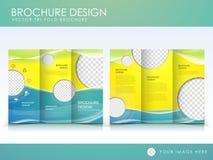 Vector het ontwerpmalplaatje van de brochurelay-out Stock Fotografie