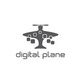 vector het ontwerpmalplaatje van het vliegtuigconcept Stock Foto