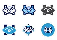 Vector het oogkliniek van het oogpictogram of het ziekenhuisteken royalty-vrije illustratie