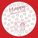 Vector het paarachtergrond van de valentijnskaartendag Stock Afbeeldingen