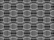Vector het patroon 3d, zwart-witte naadloze geometrische achtergrond van de hipster abstracte meetkunde, subtiel hoofdkussen en s Stock Fotografie