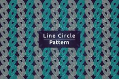 Vector het Patroonachtergrond van de lijncirkel stock illustratie