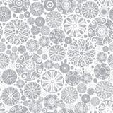 Vector het Patroonachtergrond van Strookgrey abstract doodle circles seamless Groot voor elegante gouden textuurstof, kaarten Royalty-vrije Stock Afbeeldingen