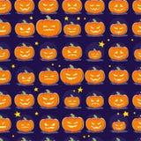 Vector het patroonontwerp van beeldverhaal naadloos Halloween met magische geïsoleerde elementen Royalty-vrije Stock Afbeelding