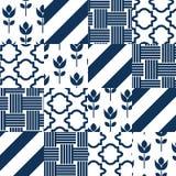 Vector het patroontegels van het lapwerkdekbed royalty-vrije illustratie
