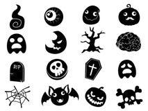 Vector het pictograminzameling van Halloween Royalty-vrije Stock Fotografie