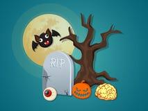 Vector het pictograminzameling van Halloween Stock Fotografie
