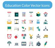 Vector het Pictogrampak van de onderwijskleur vector illustratie
