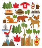 Vector het pictogramreeks van Canada royalty-vrije illustratie