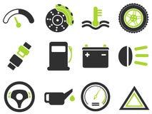 Vector het pictogramreeks van de autointerface Royalty-vrije Stock Afbeeldingen