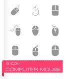 Vector het pictogramreeks van de computermuis Royalty-vrije Stock Fotografie