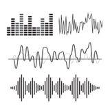 Vector het pictogramreeks van de muziek correcte golf Royalty-vrije Stock Foto