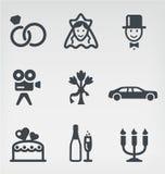 Vector het pictogramreeks van het huwelijk Royalty-vrije Stock Foto's