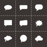 Vector het pictogramreeks van toespraakbellen Stock Afbeeldingen
