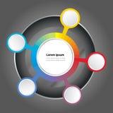 Vector het spectrumachtergrond van de grafiekkleur Stock Foto