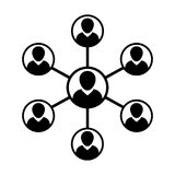 Vector het Symboolgroep van het netwerkpictogram Mensen en Groepswerk van Verbonden Bedrijfspersoon vector illustratie