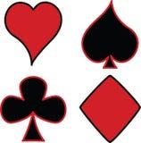 Vector het tekenpictogrammen van het kaartenspel Vector Illustratie