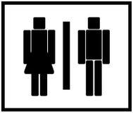 Vector het toiletteken van de Man & van de Vrouw vector illustratie