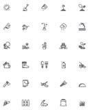 Vector het tuinieren pictogramreeks Royalty-vrije Stock Afbeeldingen