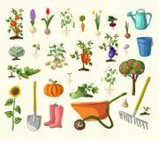 Vector het tuinieren reeks Stock Afbeeldingen