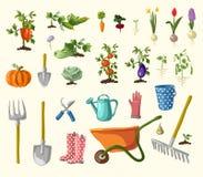Vector het tuinieren reeks Royalty-vrije Stock Foto's